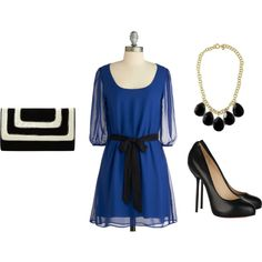 Out of the sheer blue dress. For a guest to a fall wedding