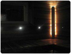 Kuopion saunassa seinien kulmauksissa valotolpat. www.saunapojat.fi Bathroom, Home Decor, Washroom, Decoration Home, Room Decor, Bathrooms, Bath, Interior Decorating
