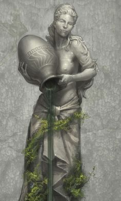 View an image titled 'Garden Statue Art' in our God of War III art gallery featuring official character designs, concept art, and promo pictures. Character Concept, Character Art, Concept Art, Character Design, Living Statue, Black And White Artwork, Dungeons And Dragons Characters, Fantasy Male, Fantasy Setting