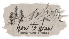 mountains draw trees doodle mountain drawing hildurko easy simple tree drawings sketch journal bullet nature hildur learn re
