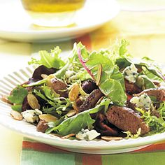 Grilled Duck Breast Salad with Champagne-Honey Vinaigrette Vinaigrette Salad Dressing, Vinegar Dressing, Salad Dressing Recipes, Salad Recipes, Picnic Recipes, Champagne Vinaigrette, Champagne Vinegar, Moscato Champagne, Mct Oil