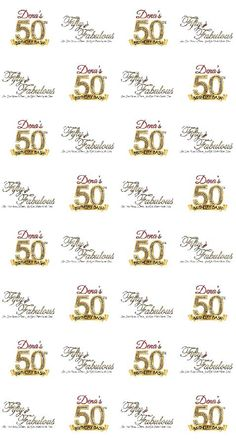 50th Birthday Party Custom Backdrops (Step and Repeat   50 ...