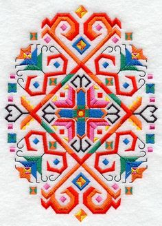 Machine Embroidery Designs at Embroidery Library! - Bulgarian Folk Art Oval