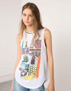 Shirt Bershka met fotoprint - T- Shirts - Bershka Netherlands