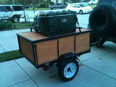 Nice small trailer with roof storage
