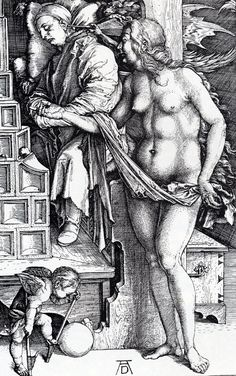 Albrecht Dürer - The Temptation of the Idler 2F The Dream of the Doctor