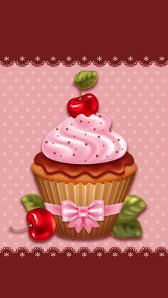 Discover and share the most beautiful images from around the world<br> Cupcakes Wallpaper, Food Wallpaper, Cute Wallpaper Backgrounds, Cupcake Kunst, Cupcake Art, Cellphone Wallpaper, Iphone Wallpaper, Cupcake Quotes, Etiquette Vintage