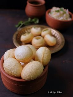 Panipuri which is also known as golgappa or puchka is a popular street food in India. I'm sharing a recipe to make the puris for this street food which is served with tamarind water, sweet ch… Indian Snacks, Indian Food Recipes, Vegetarian Recipes, Snack Recipes, Cooking Recipes, Pani Puri Recipe, Chaat Recipe, Bread Roll Recipe Indian, Puri Recipes