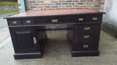 Think we need a substantial looking desk for study. I like the feel of this one but the colour is wrong...