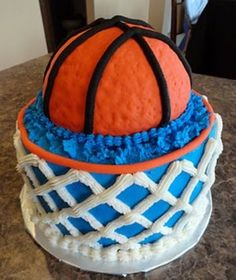 Basketball and Hoop Cake want this for my birthday!