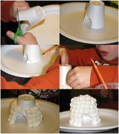 igloo paper cup crafts                                                                                                                                                                                 More                                                                                                                                                                                 More