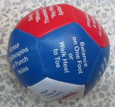 Write Fine/Gross Motor Activities on a Ball--Whatever Activity Your Thumb Lands on is What You Do Gross Motor Activities, Gross Motor Skills, Speech Activities, Pediatric Occupational Therapy, Pediatric Ot, Motor Planning, Vision Therapy, Classroom Inspiration, Kids Health