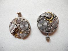 2 Vintage watch movements clockworks for your art by vintagelarisa, $6.88