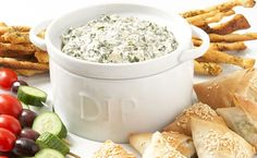 Epicure's Spinach Dip - Always a party favorite! This dip mix is available again until at least December 2013 Real Food Recipes, Great Recipes, Cooking Recipes, Favorite Recipes, Healthy Spinach Dip, Epicure Recipes, Protein, Good Food, Yummy Food