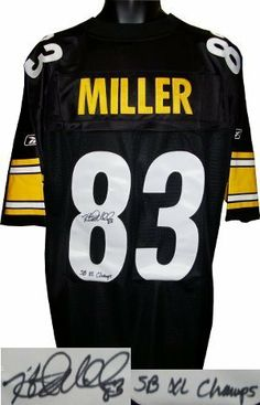 b3769da87 Heath Miller signed Pittsburgh Steelers Reebok EQT Jersey SB XL Champs by Athlon  Sports Collectibles.