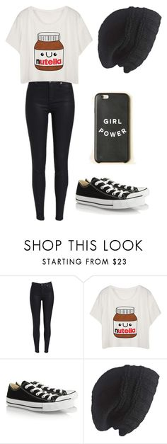 """""""Random Outfit #24"""" by gabbygainer ❤ liked on Polyvore featuring Converse and Laundromat"""