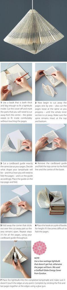 Book lampshade