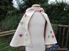 Love heart cape age 3 to 6 by knittedswimsuit on Etsy, £25.00