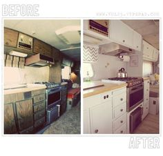 Motor Home Makeover Before & After Pictures... awesome idea. Fun road trips with the kiddos. :)
