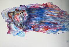 Color of Aura. Acrylics. Sanna   Contemporary Art ©