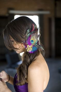 Peacock Inspired Hairpiece  http://significanteventsoftexas.com/