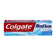 Colgate Max Clean with Whitening Foaming Toothpaste, Effervescent Mint - 6 oz Toothpaste Brands, Medical Help, Bad Breath, Mouthwash, Iron Oxide, Cavities, Active Ingredient, 6 Years, Whitening