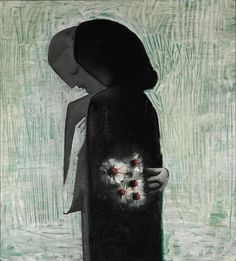Lovers / Charles Blackman / 1960 / oil on composition board / NGV Australian Painting, Australian Artists, Garden Of Earthly Delights, Painting Collage, Sketch Painting, Art And Craft Design, Best Portraits, Autumn Art, Modern Artists