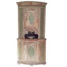 19th Century Swedish Gustavian Corner Cabinet