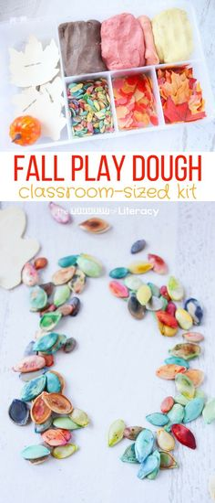 This fall play dough kit is an awesome activity to add to classroom sensory play. So many fun ways for kids to be creative! #kindergarten #preschool #prek #playdough #sensory #fall #fallplaydough #playdoughkit