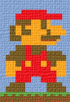 Free Cross Stitch Patterns by AlitaDesigns: Mario