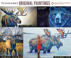 Western World, Western Art, Bull Moose, Moose Art, Paintings For Sale, Original Paintings, Majestic Animals, Park City, Galleries
