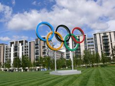 The Olympic Rings in Victory Park in the Olympic Village. Add Around The Rings on www.Twitter.com/AroundTheRings & www.Facebook.com/AroundTheRings for the latest info on the #Olympics.