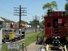 Conneaut Railroad Museum (with CSX train in background)