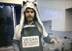 Jared Leto Celebrates Oscar Nomination by Eating Some Vegan Pancakes!