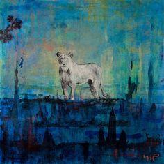"Saatchi Art Artist Norm Yip; Painting, ""Sinha is here"" #art #ShouldBePURPLEforRoyalty"