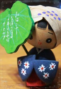 Kokeshi, Japanese Wooden Doll|こけし(秋田おばこ)