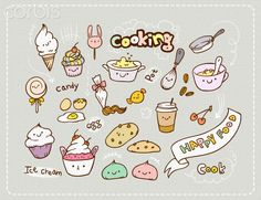 Illustration icons of cooking
