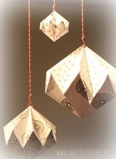 Origami - papir diamant mobile