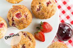 Muffins au yogourt, au miel et aux fraises