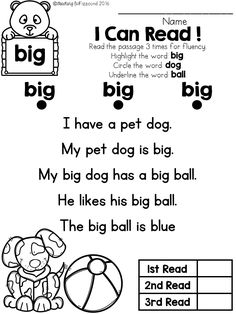 I Can Read Simple Stories With Cvc Word Families Read The Story