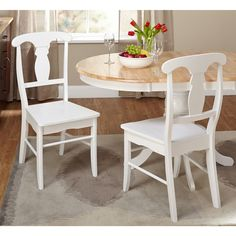 White Dining Room Chairs: Make mealtimes more inviting with comfortable and attractive dining room and kitchen chairs. Free Shipping on orders over $45!