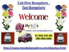 Cab Hire Bangalore , Taxi Bangalore