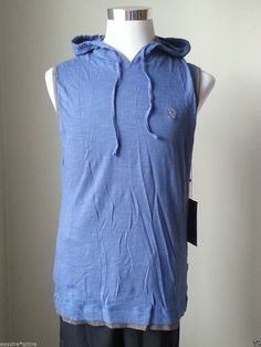 Lions Crest by English Laundry men size M hoody sleeveless blue #cotton NWT visit our ebay store at  http://stores.ebay.com/esquirestore