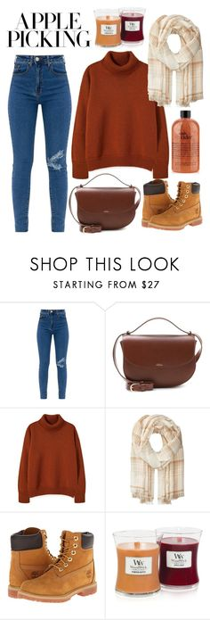 """""""Autumn"""" by frizzandfreckles ❤ liked on Polyvore featuring A.P.C., Polo Ralph Lauren, Timberland and WoodWick"""