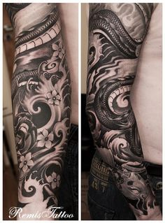 Japanese Dragon Tattoo Black And Grey by ~Remistattoo on deviantART
