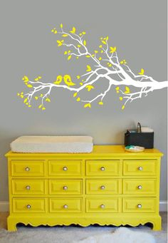 Wall Decal  white tree branch with hearts decal by ModernWallDecal, $42.00