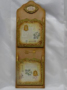 Wooden letter holder   Handmade