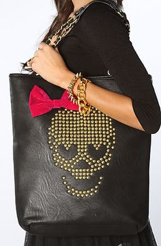 9c822f7485c Betsey Johnson The Skull Candy Tote Bag in Black, Save 20% off with Rep