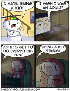 Theodd1sout :: I Hate Being a Kid! | Tapastic Comics