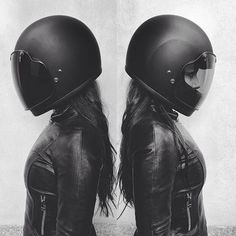 Helmets and leather...